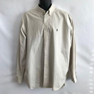 Ralph Lauren Cream 100% Cotton Shirt